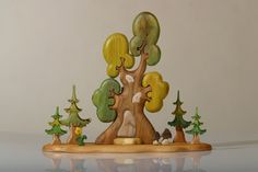 These unique wooden toys   are made by David Palhegyi of Hungary.