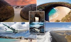 From glass sand to hidden caves: The world's most unusual beaches #DailyMail