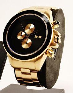 Vestal Watch ZR3 ZR-3 Chronograph Rose Gold Black Steel