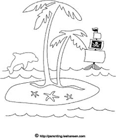 pirate island picture, treasure island coloring page #vbs #sontreasureisland #equippingkids