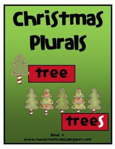 Teach it With Class: Christmas Plurals FREEBIE