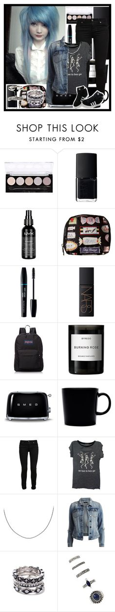 """One Hundred Sleepless Nights"" by andyrosexxx on Polyvore featuring NARS Cosmetics, NYX, LeSportsac, JanSport, Byredo, Smeg, iittala, Paige Denim, Wildfox and Belk Silverworks"