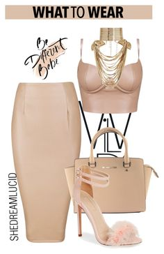 """OOTD"" by gigi-lucid ❤ liked on Polyvore featuring Michael Kors, Topshop, Bobbi Brown Cosmetics, Rosantica, outfit, ootd and nude"