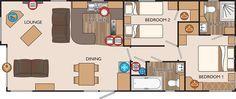 New Hampshire Series 3 40 x 16 2bed sleeps4 floor plan