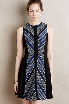 at anthropologie Pyramid Flare Dress Simple Dresses, Lovely Dresses, Casual Dresses, Fashion Dresses, Dresses For Work, Batik Mode, Blouse Batik, Batik Blazer, Batik Kebaya