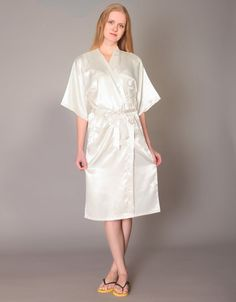 da53e81612 Items similar to CS1 satin bride robe personalized bridesmaids robe  destination wedding gift wedding ketubah Embroidered robe NOT silk kimono  dressing gown ...