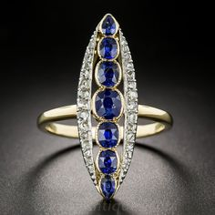 Victorian Sapphire & Diamond Dinner Ring
