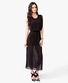 Chiffon Maxi Dress  (great beach cover up from pool to bar and into the evening)
