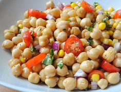 I offer you a WW recipe for Chickpea Salad. A simple and easy recipe to prepare at home. This recipe represents / Part Sea Food Salad Recipes, Chickpea Salad Recipes, Ww Recipes, Crockpot Recipes, Whole Food Recipes, Healthy Recipes, Healthy Food, Seafood Salad, Food Hacks