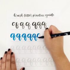 Want to get better at brush lettering? Get practicing with this guide! http://shop.randomolive.com/brushpractice?utm_content=buffera1b4f&utm_medium=social&utm_source=pinterest.com&utm_campaign=buffer. #brushlettering
