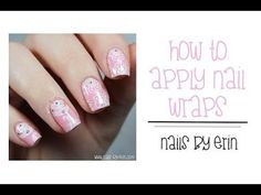 How to Apply Nail Wraps #Tutorial #nailart #video #nailart - bellashoot.com