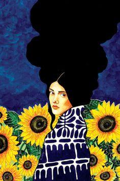 """hülya özdemir — """"come across"""" watercolour on paper) Art Inspo, Inspiration Art, Art Du Collage, L'art Du Portrait, Frida Art, Art Watercolor, Art Et Illustration, Art Design, Canvas Art Prints"""