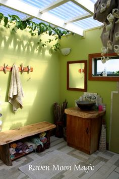 outdoor bathroom or would be a great addition to a mud room