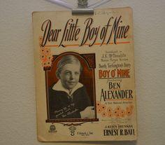 Vintage 1918 Dear Little Boy of Mine Music by FloridaFindersPaper, $15.00