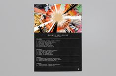 Perc Trax - Slowly Exploding - 10 years of Perc Trax - Tour Poster Design & Art Direction - Jonny Costello
