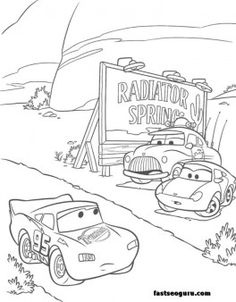 Printable sally Lightning,McQueens Sheriff print coloring page - Printable Coloring Pages For Kids