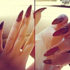 Red Pointed nails