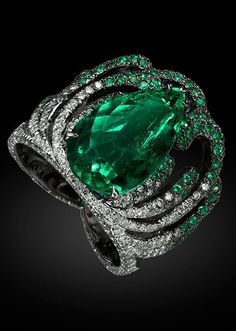 Emerald and Diamond Ring Carnet by Michelle Ong