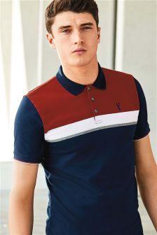 Mens Next Rust/Navy Chest Stripe Polo - Blue Printed Polo Shirts, Polo T Shirts, Polo Rugby Shirt, Men's Polo, Polo Blue, Polo Shirt Outfits, Polo Shirt Design, Mens Fashion Wear, Men's Fashion