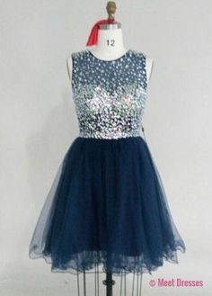 Navy Blue Homecoming Dress,Lace Homecoming Gown,Tulle Homecoming Gowns,Ball Gown Party Dress,Short Prom Dresses,Lace Formal Dress For Teens PD20183792