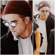 6d8ac98c38 Robert Pattinson black white mirror lense sunglasses Dior Homme 0196s  Robert Pattinson Dior
