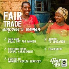 Do you know about the 5 ways #FairTrade empowers #women? REPIN this graphic to share with your friends so they know why it's important to look for the Fair Trade label! http://BeFair.org/ ‪#‎FairHer‬ #womensempowerment