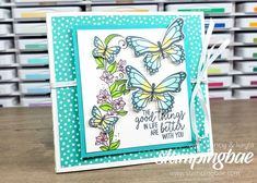 Butterflies Galore & A Fun Flower Fold