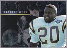 SAN DIEGO CHARGERS 1995 FLEER METAL PLATINUM PORTRAITS NATRON MEANS NMMT #SanDiegoChargers