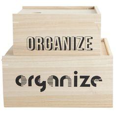 Organize boxes no 2, 2 pack – House Doctor #interior #design