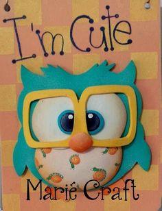 Owl with glasses part 1 parts) Foam Crafts, Preschool Crafts, Crafts For Kids, Paper Crafts, Craft Foam, Scrapbook Paper, Scrapbooking, Owl Clip Art, Felt Patterns