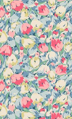 Painted Tulips | Experimenting with different drawing styles and new flowers led us to this expressive, painterly print, which brims with softly coloured tulips | Cath Kidston Autumn Winter 2016 |