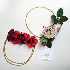 Headbands fleuri Séraphine Paris sur mesure #headand #fleurs #pivoine #pavot #coquelicot #rouge #rose #seraphine #seraphineparis #seraphinebijoux #mariage #mariée #wedding #bride #coiffure #couronne #flowercrown #couronnedefleurs