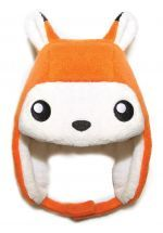 crazyheads Kids Infant and Toddler Orange Fox Trapper Hat with cute face - SALE $17.49