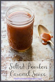 A recipe for Salted Bourbon caramel sauce and a bit about the science of caramelization of sugars Just Desserts, Delicious Desserts, Dessert Recipes, Dessert Bars, Cake Recipes, Bourbon Caramel Sauce, Diy Food Gifts, Sweet Sauce, Homemade Sauce