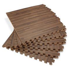 Faux Hardwood Floor Interlocking Foam Tiles 25 Pack In