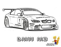 BMW M3 Fast Car Picture To Print At YesColoring.com.