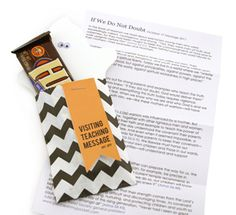 October 2011 Visiting teaching message & treat for The Church of Jesus Christ of Latter Day Saints...  love the chevron!