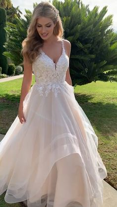 Want to feel like you're on cloud 9 on your wedding day? Step into style from Moonlight Bridal. This A-line wedding gown features a sparkly beaded bodice and a whimsical tulle skirt that will have jaws dropping the moment you walk…Read Boho Wedding Guest Dress, Bodice Wedding Dress, Cute Wedding Dress, Dream Wedding Dresses, Designer Wedding Dresses, Bridal Dresses, Whimsical Wedding Dresses, Beautiful Wedding Dress, Klienfeld Wedding Dresses