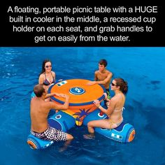 This looks fun for the family...what do you think of this floating picnic table?? Find it here: http://amzn.to/2aA21AT