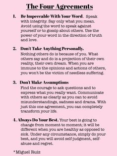 #thought http://www.positivewordsthatstartwith.com/ The Four Agreements | Words Of Wisdom | The Tao of Dana #inspirationalquotes