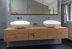 Home: bathrooms What about a Lack shelf, wooden counter, and vessel sink?