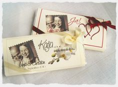 Schokoladentafeln mittel mit Foto Hochzeit - www.anjaskartenzauber.net Gastgeschenke Einladungen Schokoladen Hochzeit Taufe Geburtstag
