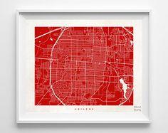 Abilene Map Print Texas Print TX Poster Street Art by InkistPrints