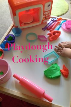 Very child led play dough activity today. We just had the play dough and shape cutters out and little one brought over the microwave and cake moulds then asked me for spoons, forks etc. I enjoyed a lovely sausage and chips dinner and cup of tea cooked from scratch 'a la little one'! Love it when their imaginations run free.  Adventures with Isla-Brae