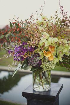 Green, Purple, and Orange Wedding