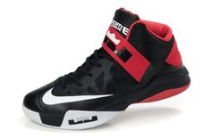 Nike Zoom LeBron Soldier V Mens Basketball Shoes - Black/Red/White For $73.60 Go To:  http://www.cheapkobeshoesmall.com