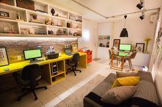 Buscá imágenes de diseños de Estudios y oficinas estilo industrial de Passo3 Arquitetura. Encontrá las mejores fotos para inspirarte y creá tu hogar perfecto.