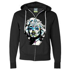 Junior/'s California Republic Black Thermal Zipper Hoodie Cali Dope Sweater S-2XL