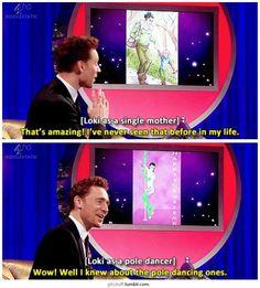 Tom Hiddleston on Loki fan art. ARE YOU KIDDING ME?!?! He KnEw?!?!?!