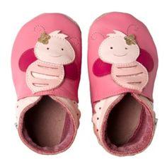 Bobux Originals Rosa Bee calzado de piel ecológica para bebés recién nacidos de suela blanda flexible y con sistema elástico anti-caída. Hechos a mano con Eco-Leather que respira y se adapta al pie de los más pequeños. Sus divertidos y coloridos diseños estimulan la imaginación de nuestros pequeños. $20(Euros)